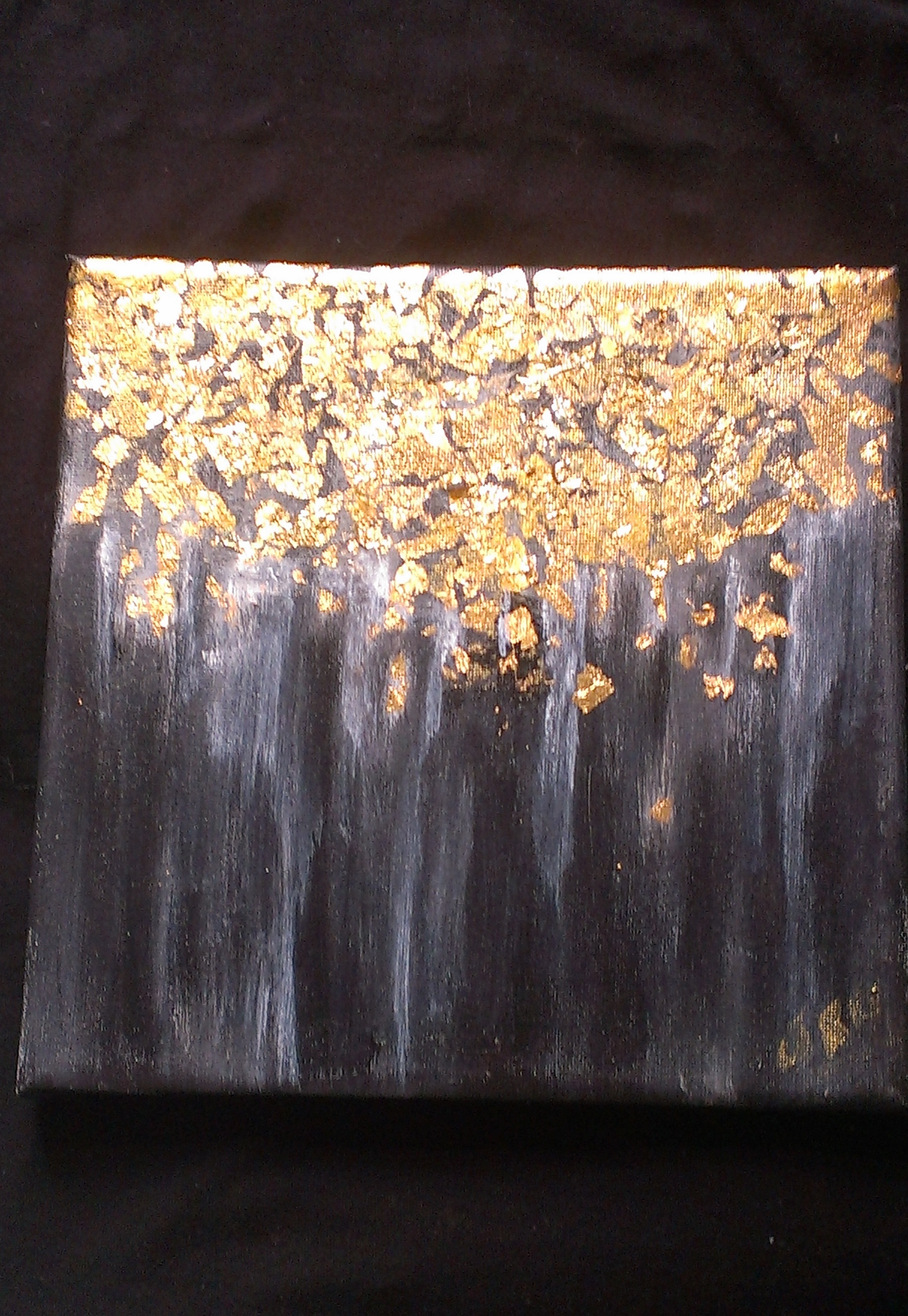 24crt Gold Leaf abstract painting