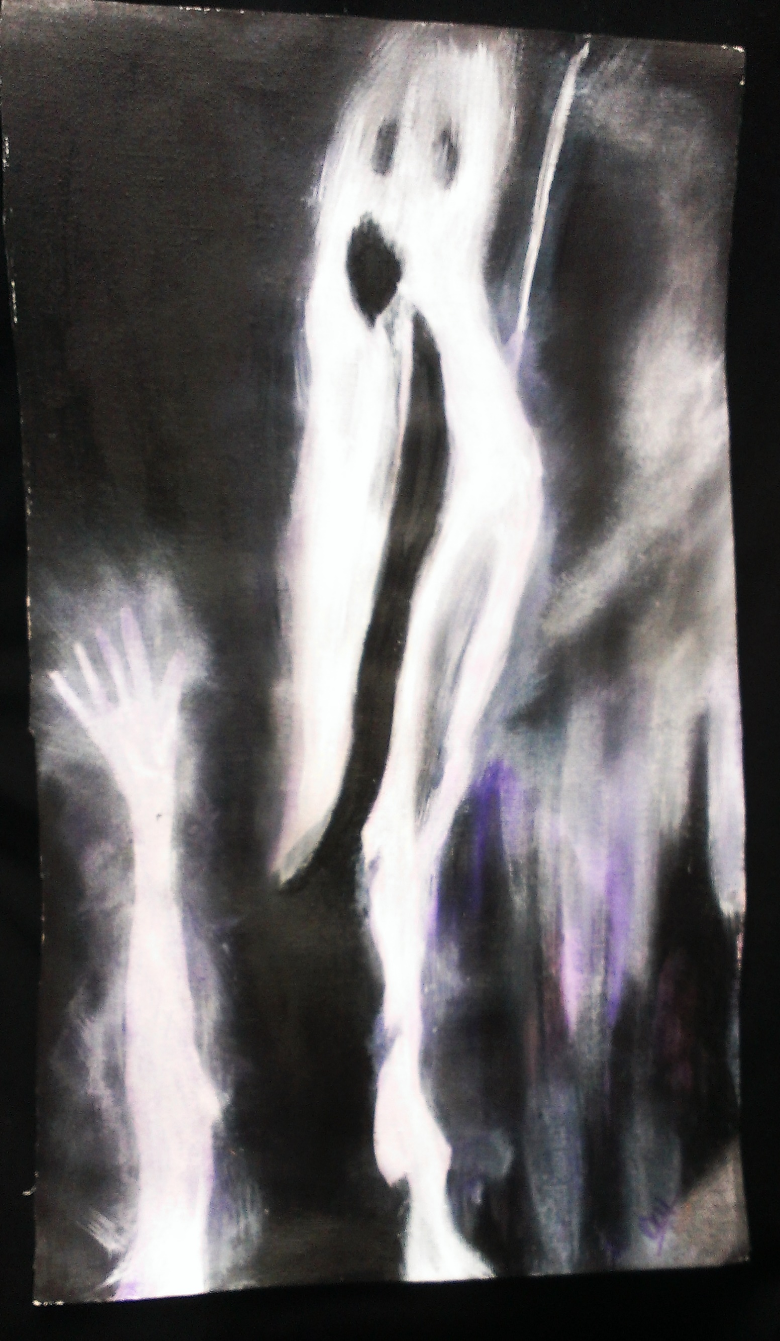Ghost Supernatural Surreal Original Painting Acrylics