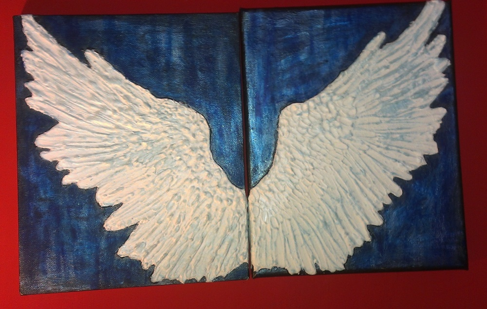 Angel Dove Wings Peace Sculpted Wings Canvas Art