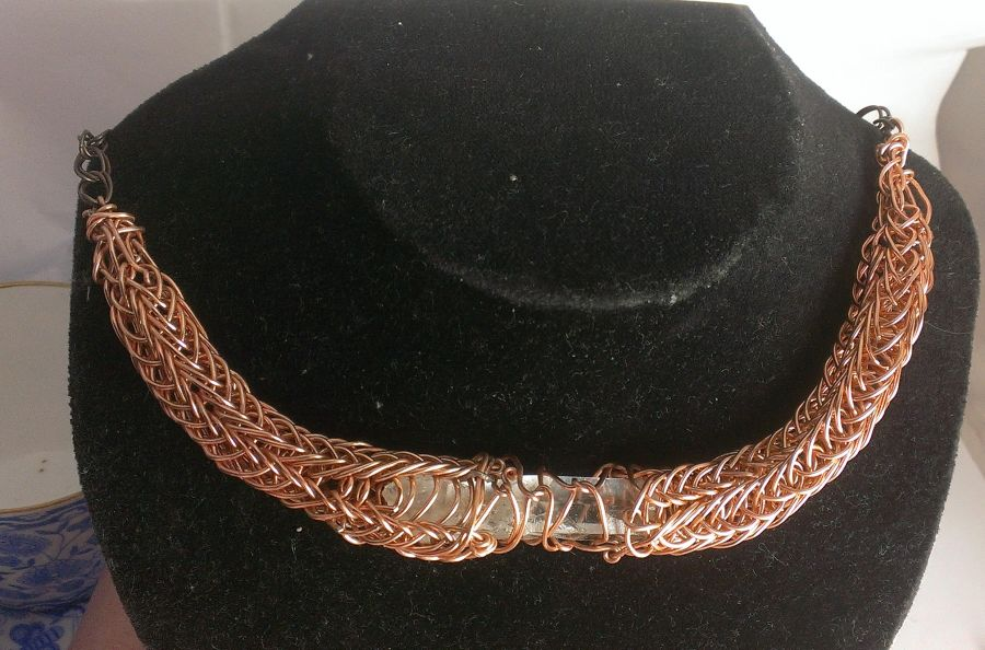 Viking Knit Clear Quartz Choker