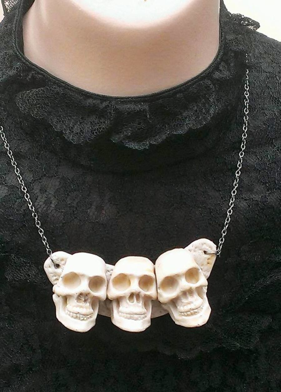 Skull Handcrafted Choker Necklace
