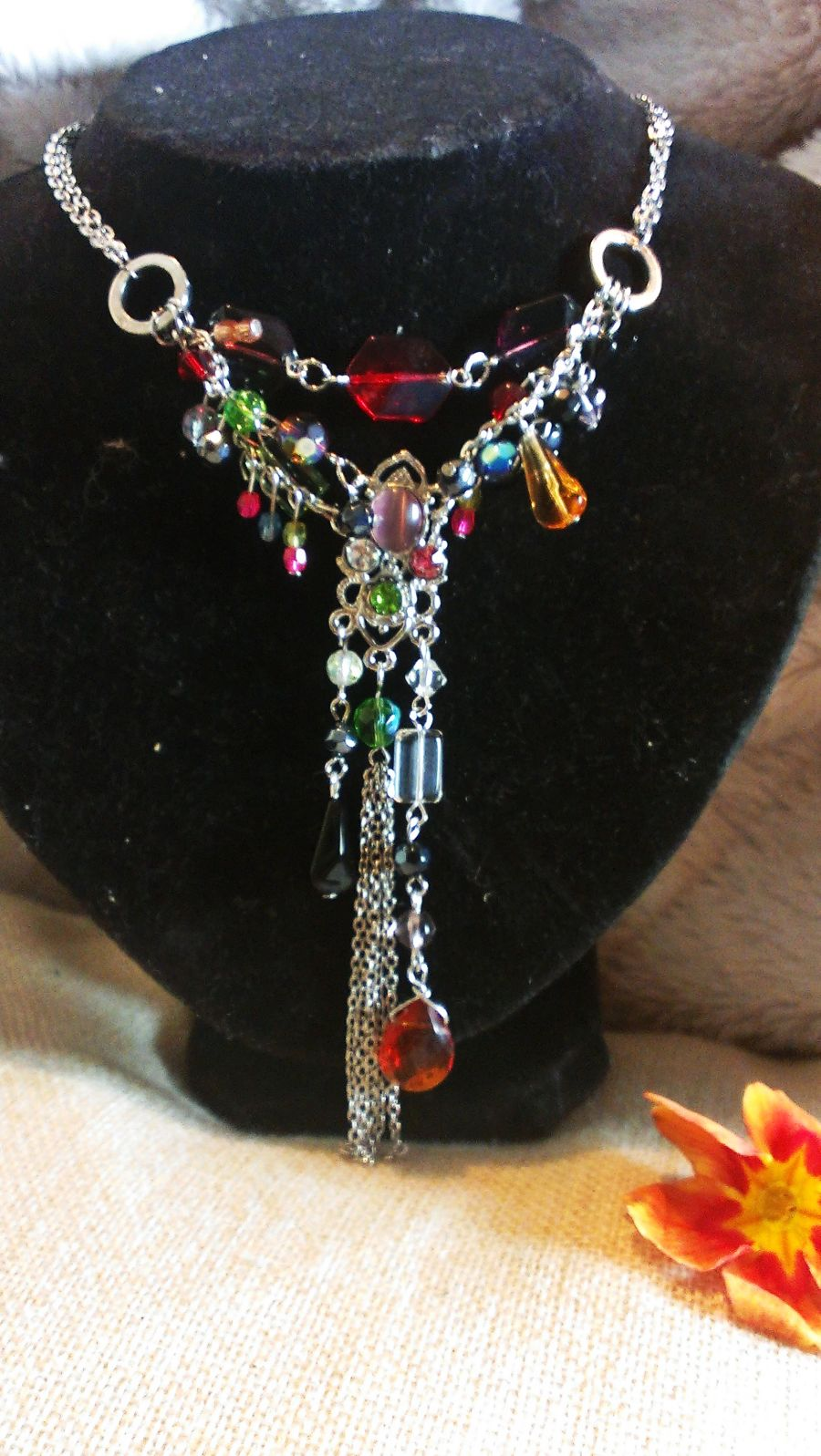 Handmade Tutti Frutti Choker Drop Necklace