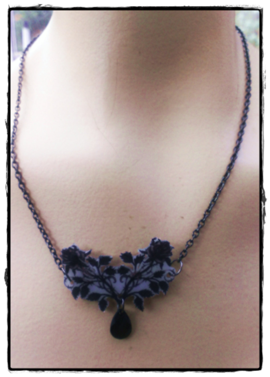 Tattoo Rose Pendant Necklace