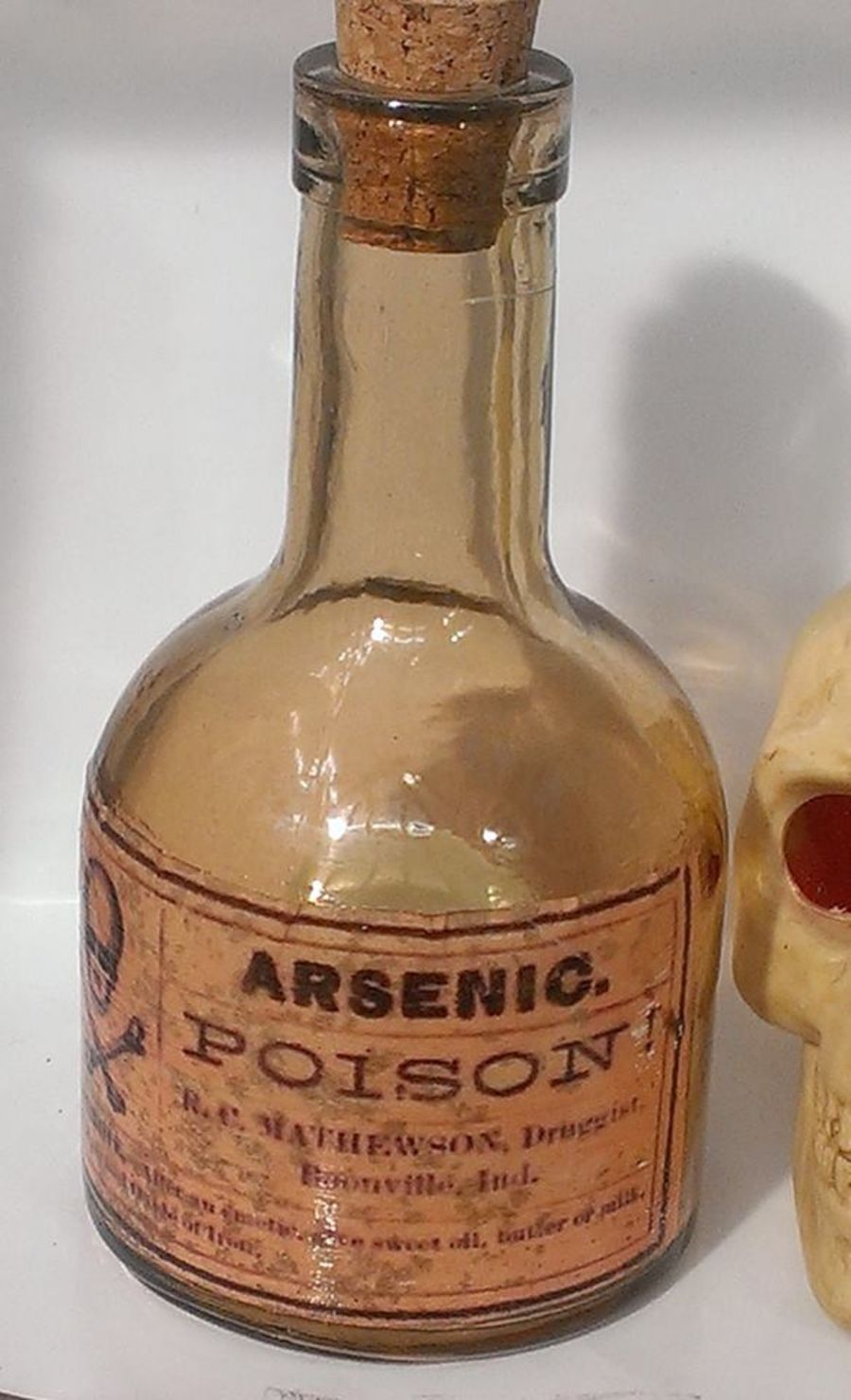 Arsenic Poison Glass Bottle Decoration Decoupaged