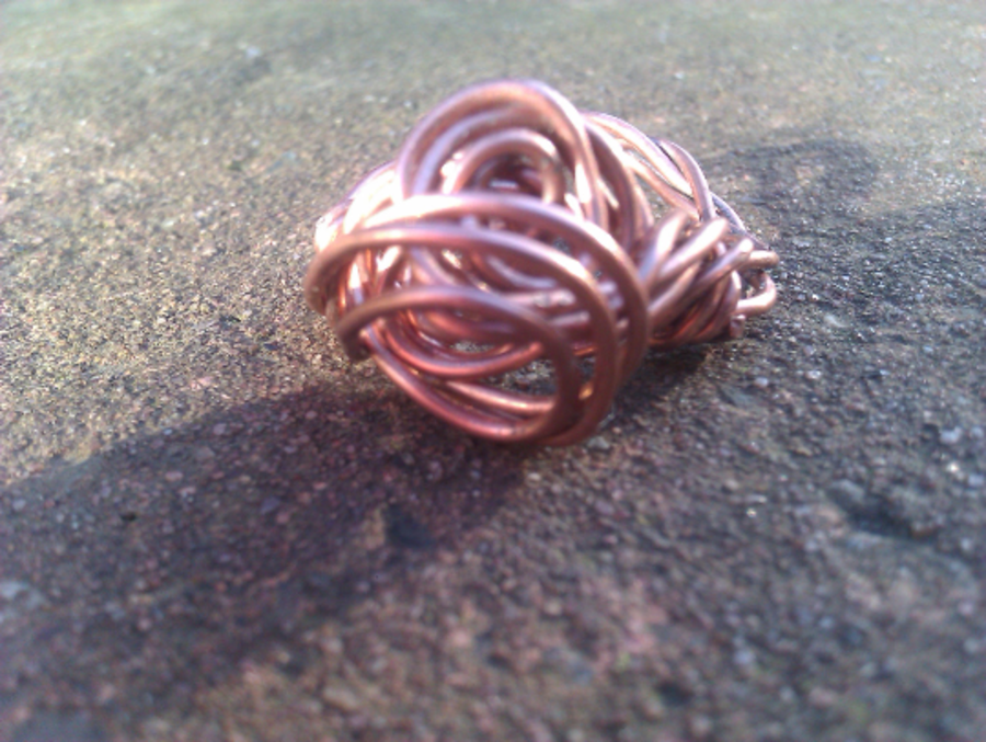 Celtic Knot Copper Ring Size P