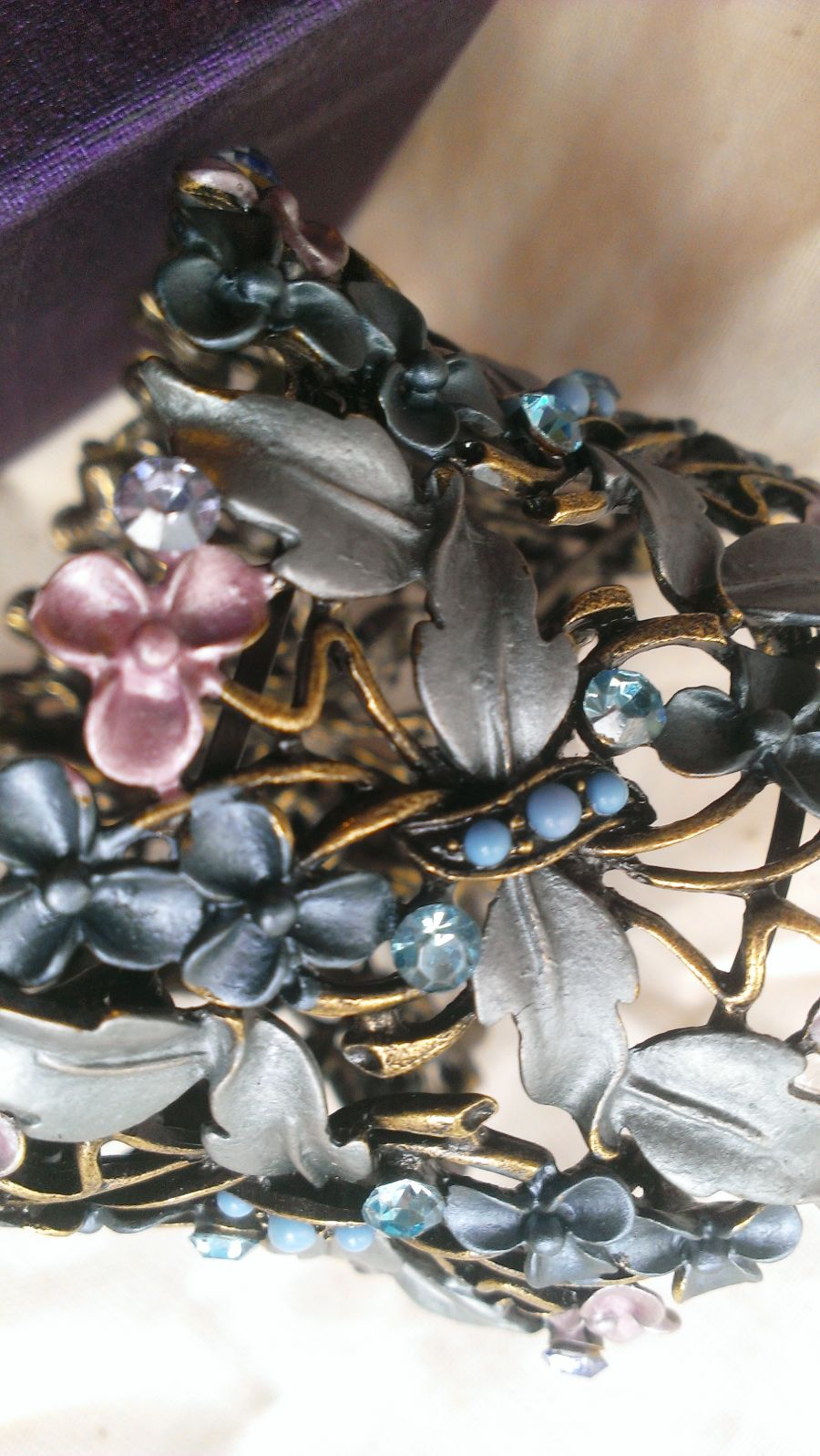 Bohemian Crystal Cut Out Cuffs Enameled Choose which one you want different colours styles