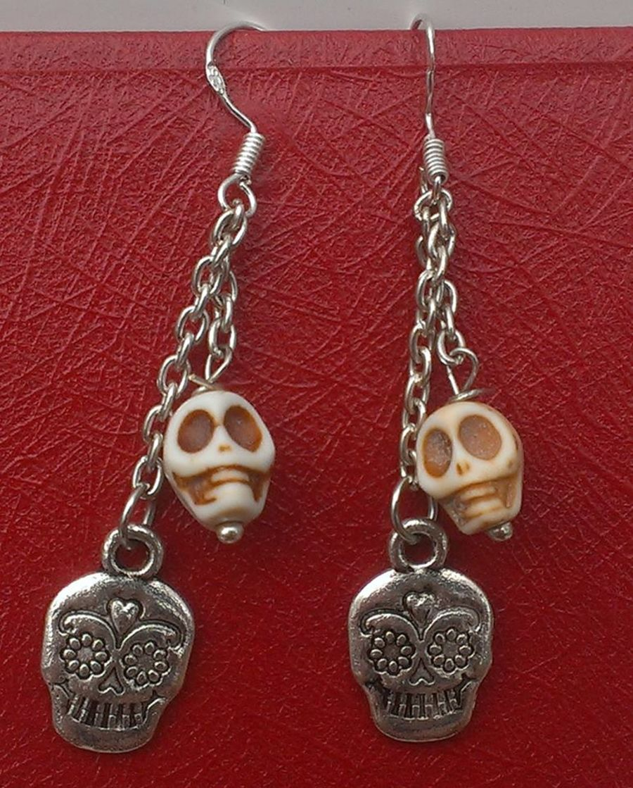Skull Chain Earrings
