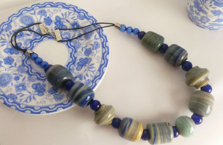 Glass Glazed Beaded Necklace