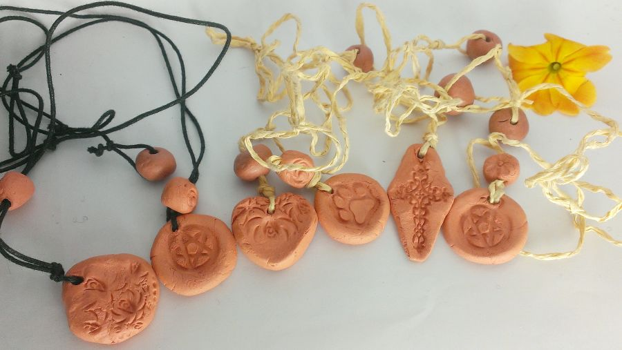 Clay Aromatherapy Pendants Choice of Design