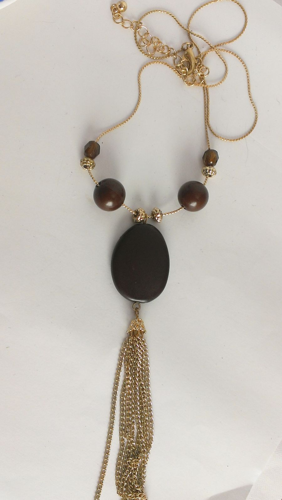 Boho Ethnic Chain Beaded Pendant Dangle