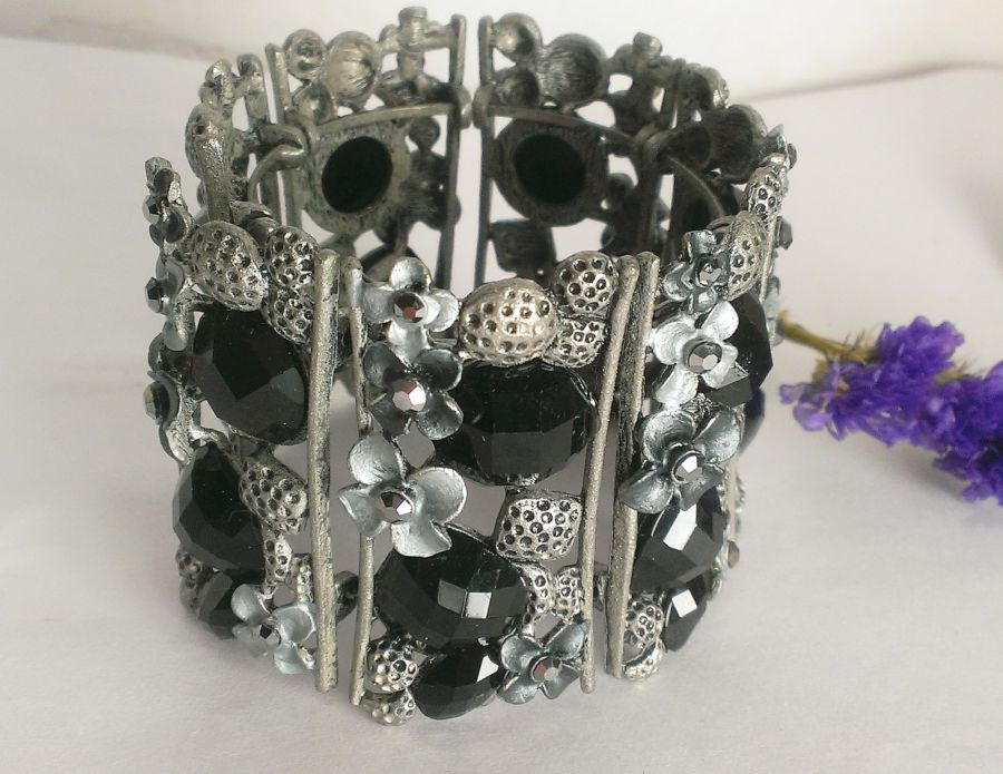 Black Enameled Cuff