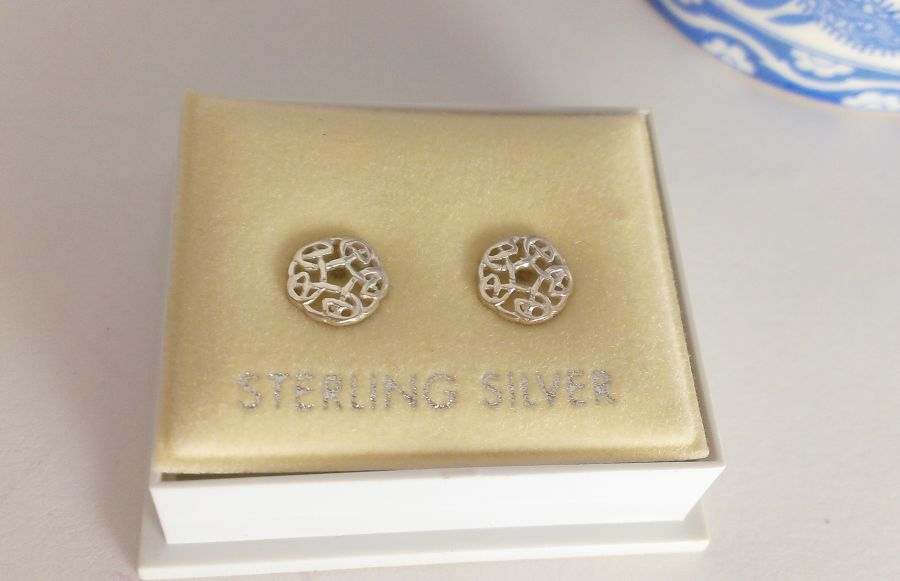 Celtic Sterling Silver Studs
