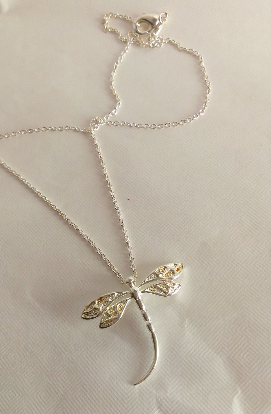 Large Dragonfly Pendant 925 Silver Boxed