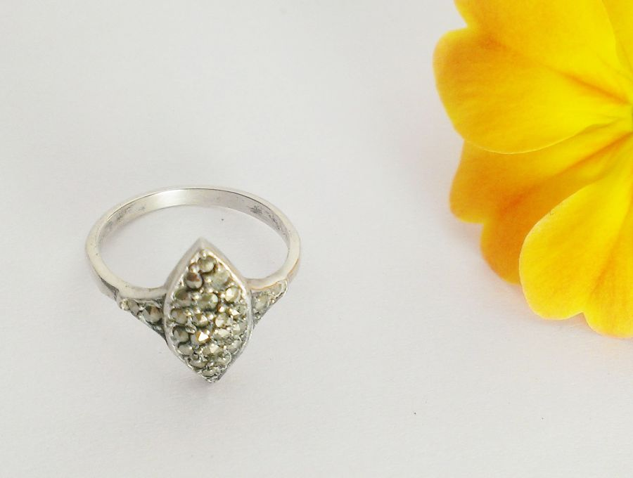 Marcasite Silver Hallmarked Ring Size N
