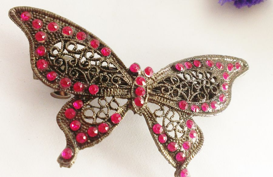 Butterfly Hair Barrettes chose from different colours