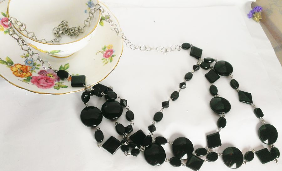 Black Gothic 3 Tier Necklace