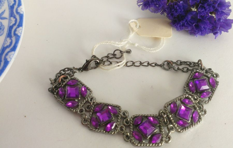 Gothic VintageLook Bracelets Choose From Blue/Purple/Red