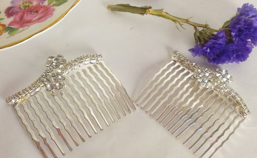Mini Crystal Hair Combs