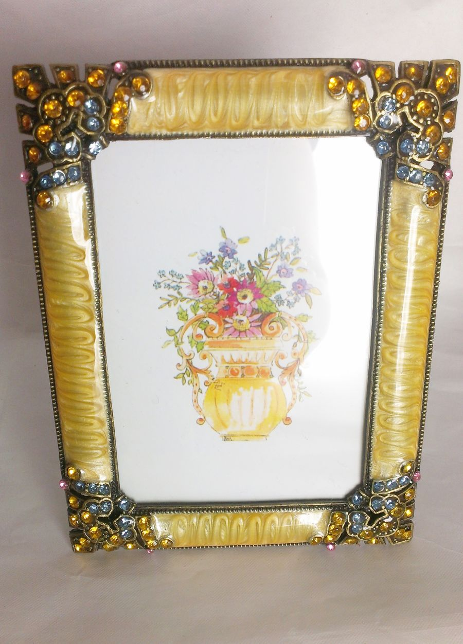 Gold And Crystal Antique Style Photo Frame