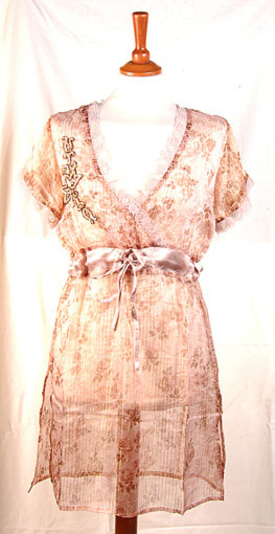 Silk Chiffon Lace Floral Tunic Dress Very Pretty
