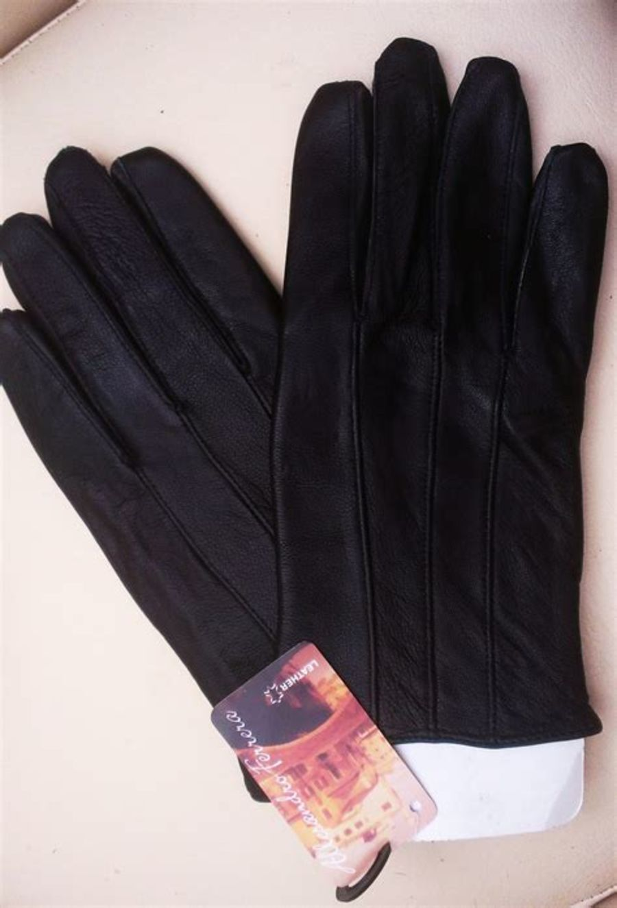 Black Soft Real Leather Ladies Gloves