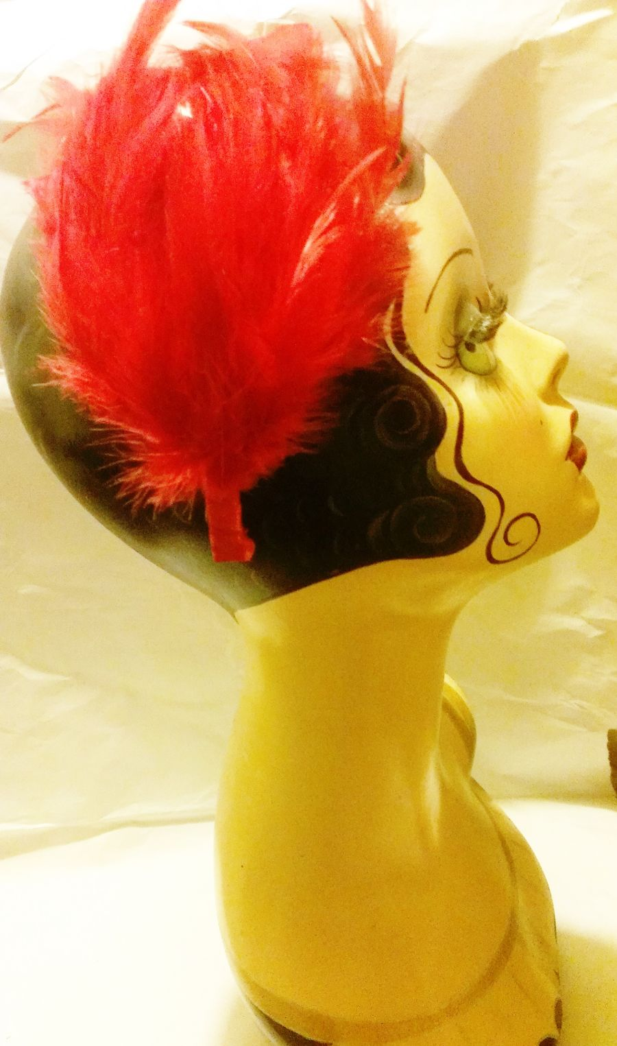 Red Feather Fascinator Band 20s Style