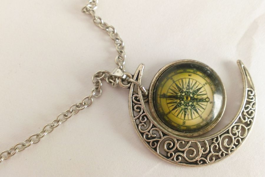 Moon And Compass Pendant