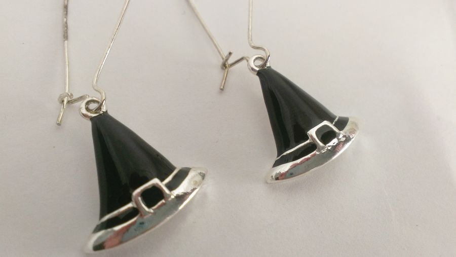 Witchy Hat Drop Earrings