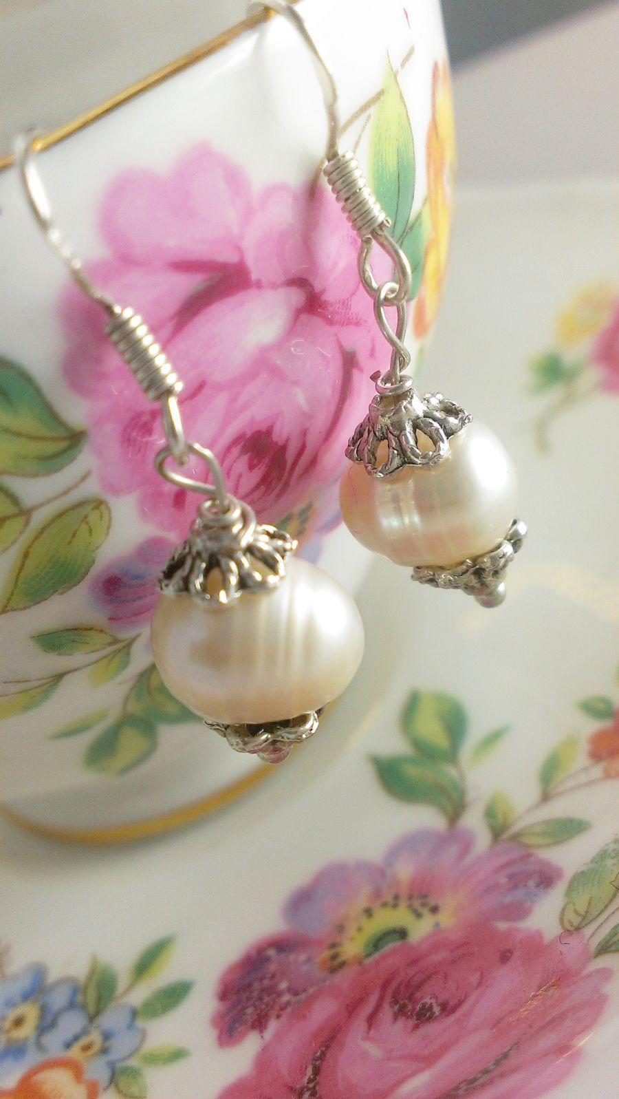 Genuine Fresh Water Pearl Drop Earrings