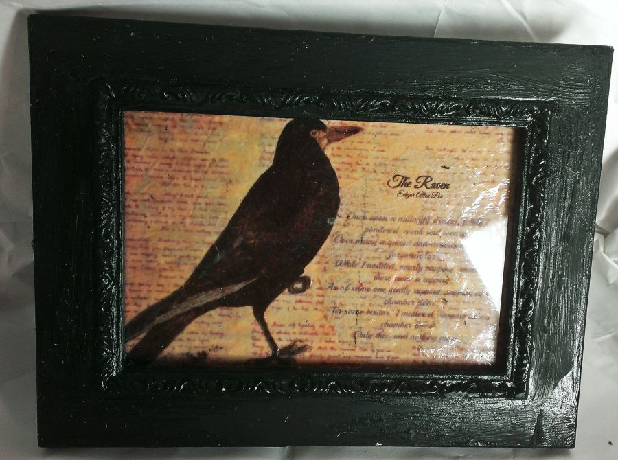 The Raven Poem Edgar Allen Poe In Frame
