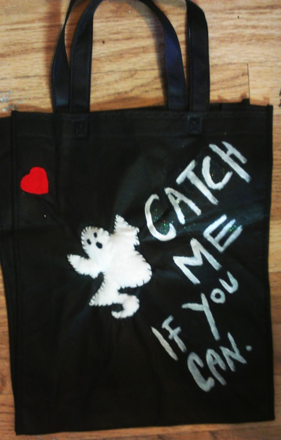 Ghost Applique Catch Me If You Can Bag