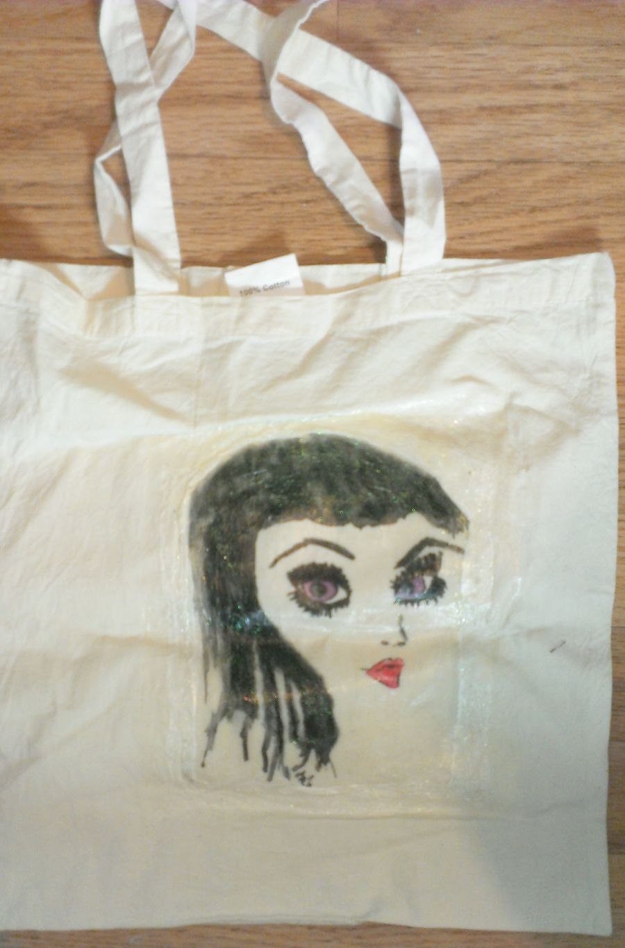 Lady Glitter Tote Bag
