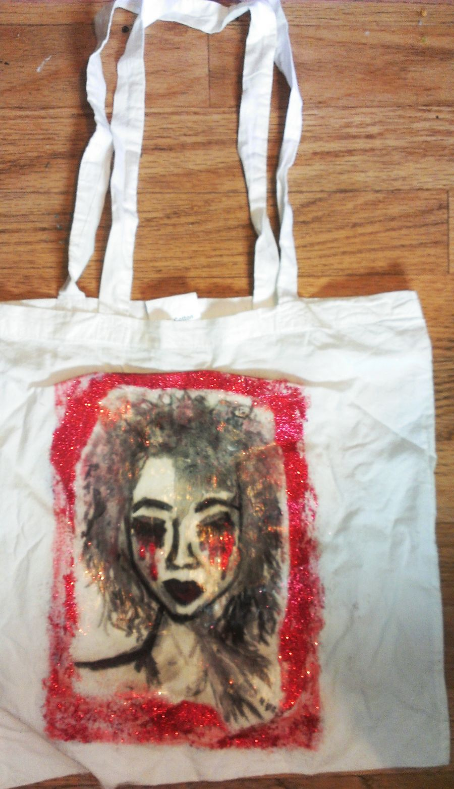 Blood Red Tears Tote Bag
