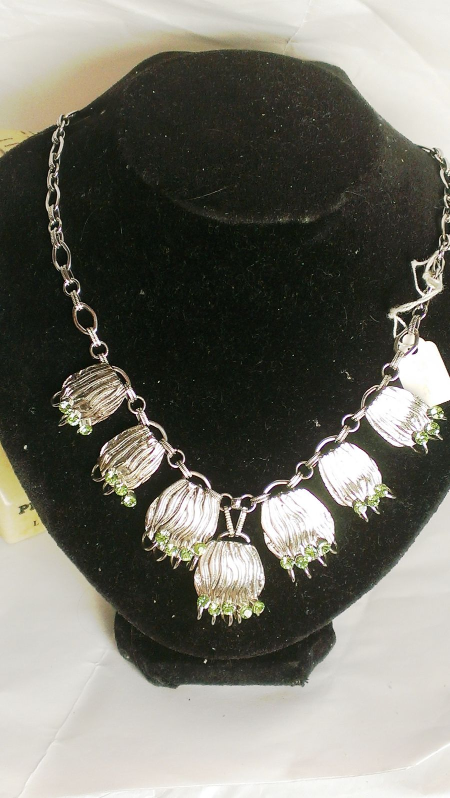 Green Diamante Boho Necklace