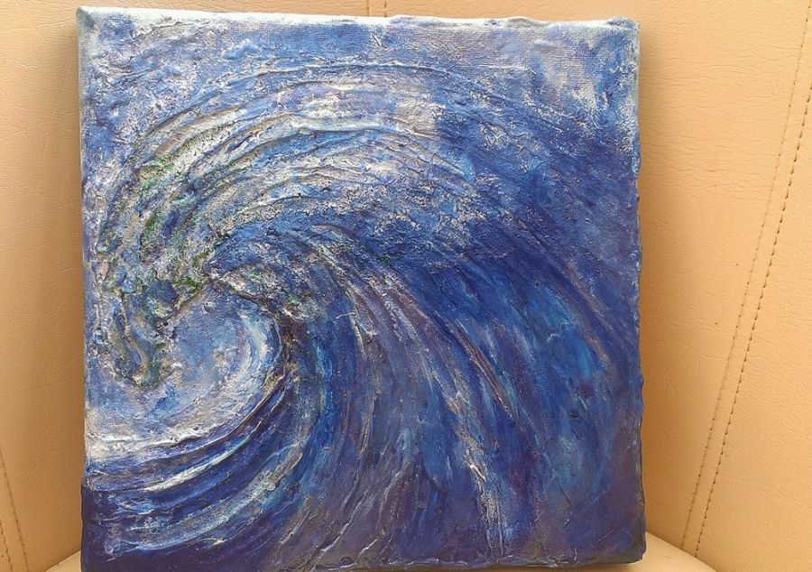 3d Wave Acrylic Texture Painting