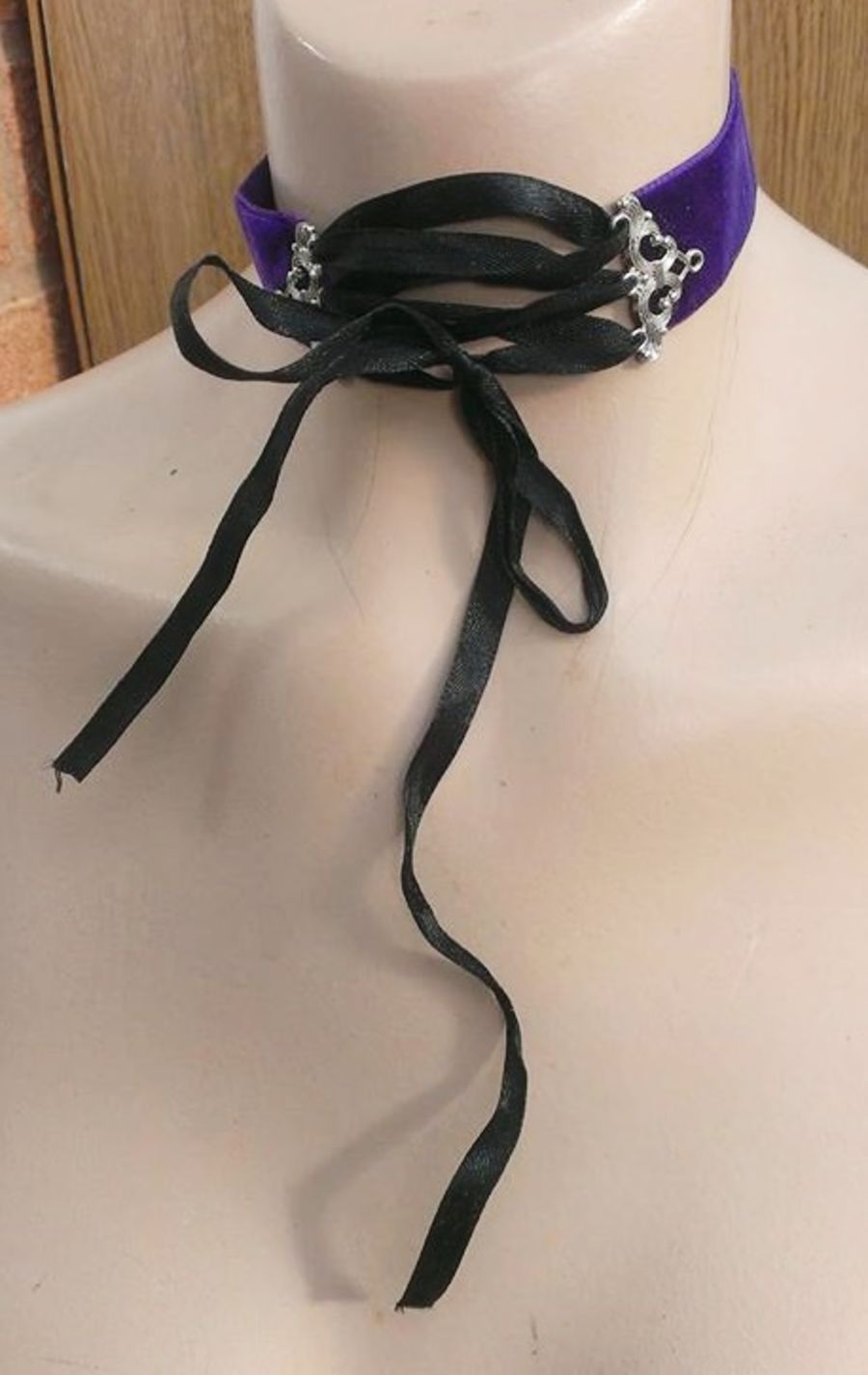 Purple Velvet Corset Ribbon Choker