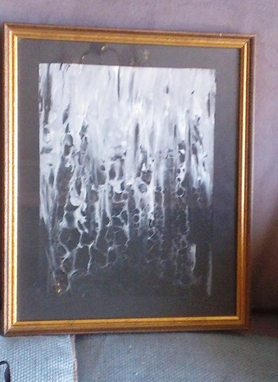 Black and White Framed Art Acrylic Painting