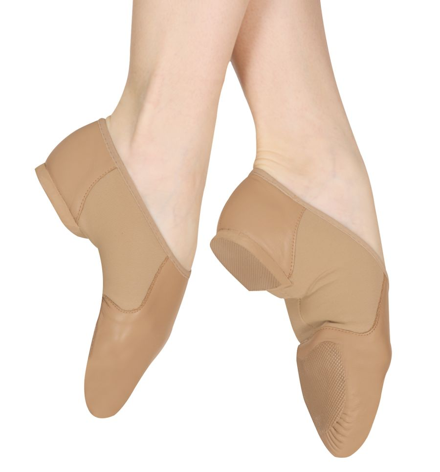 Bloch SO495 Neoflex Split Sole Slip on Jazz Dance shoes Black & Tan