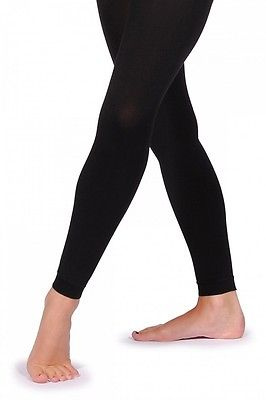 Bloch Endura TO940 Footless Dance Tights in Black & Light Tan.