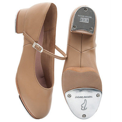 Bloch SO370L Kelly split sole tap shoes available in Tan & Black.