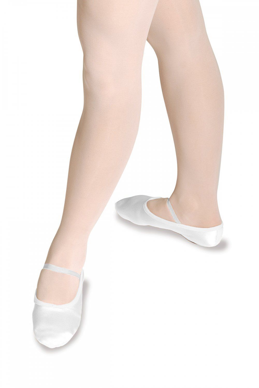 Roch Valley Satin ballet dance shoes in White & Pink