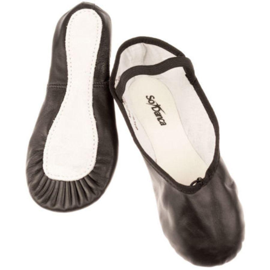 So Danca BAE90 Leather Full - Sole Ballet Shoes Black