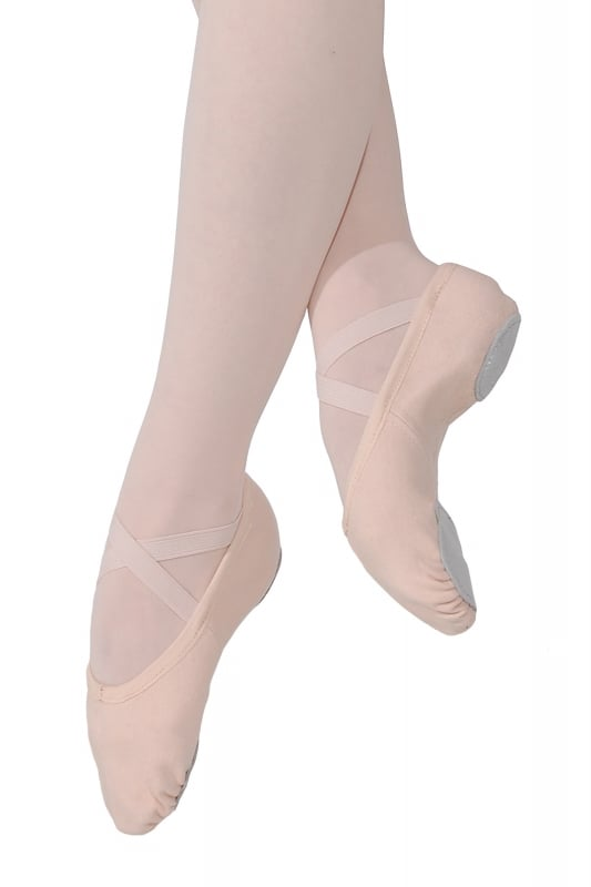 Roch Valley RVStretch Split Sole Canvas Ballet shoes. Now available in Black & Pink