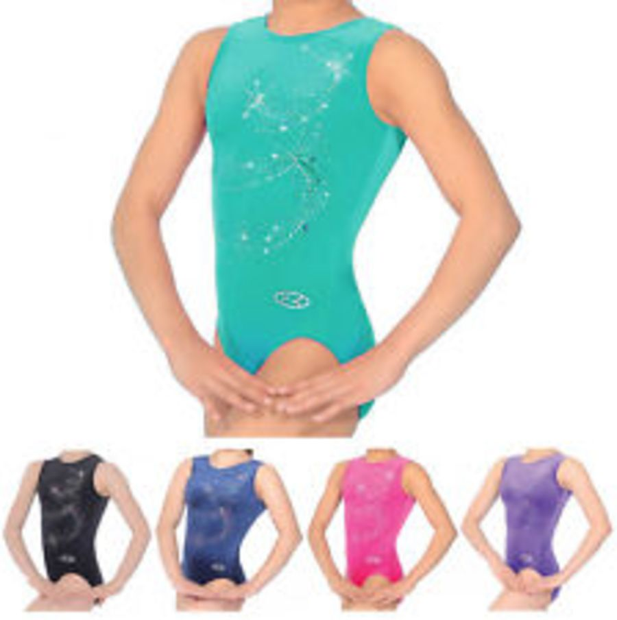 The Zone by Roch Valley Twist sleeveless gymnastic leotard Z103TWI
