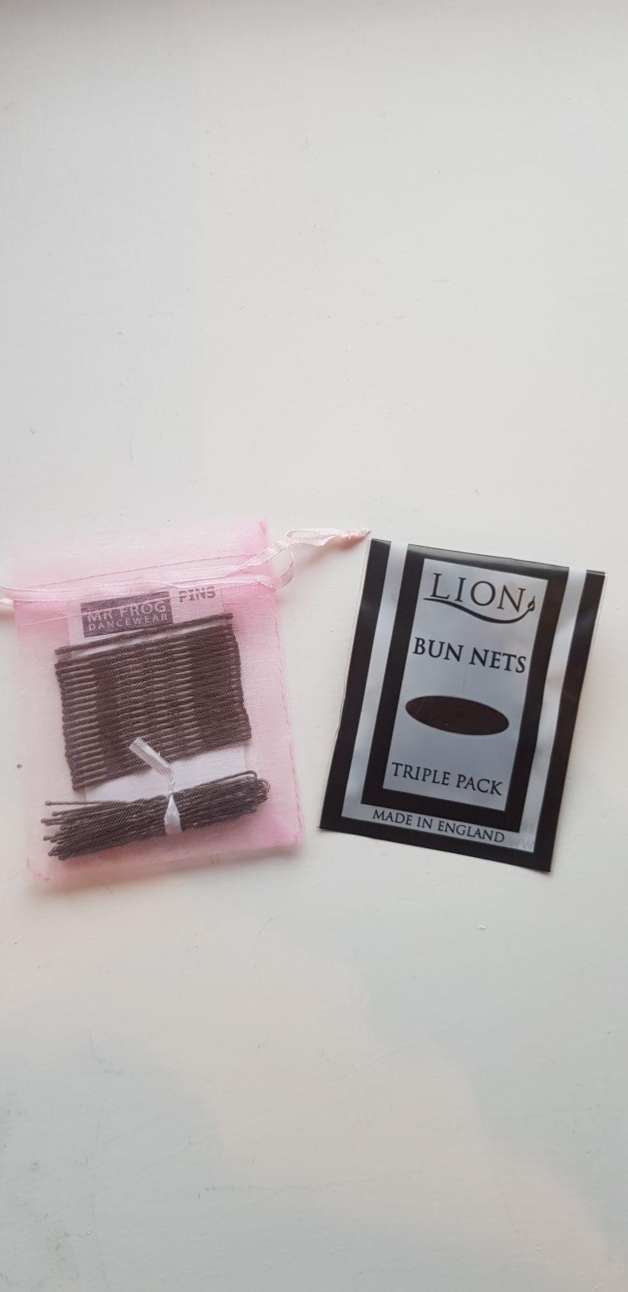 Bun nets, clips & pin pack