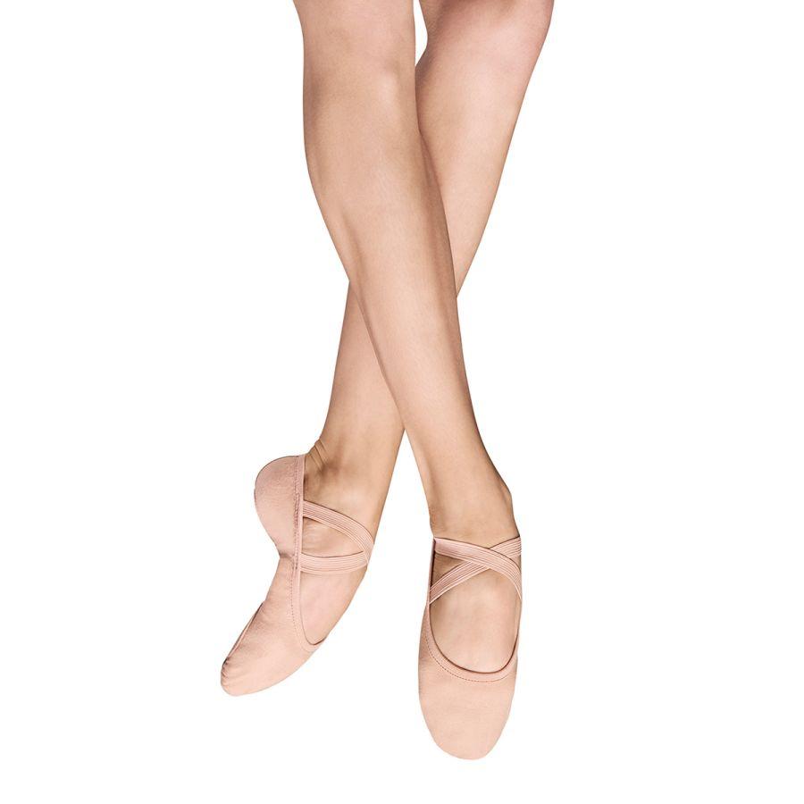 Bloch SO284L Performa Canvas Split Sole Ballet Shoe Pink  & White