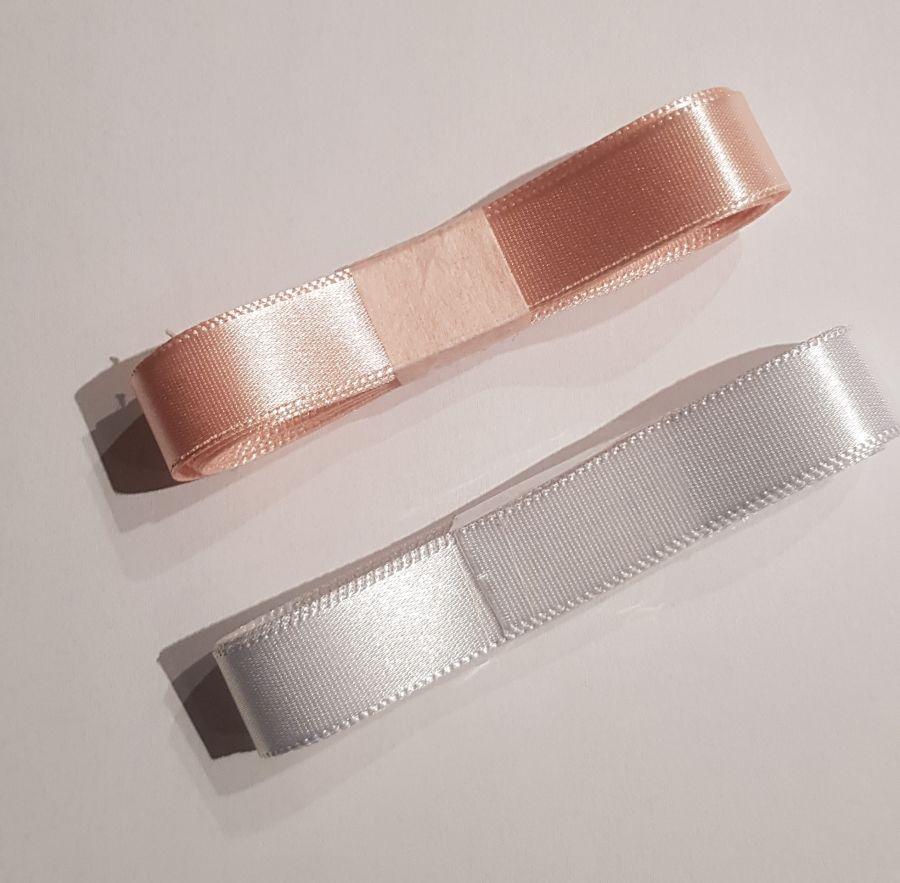 Ballet Shoe Ribbon Satin 15mm White & Pink