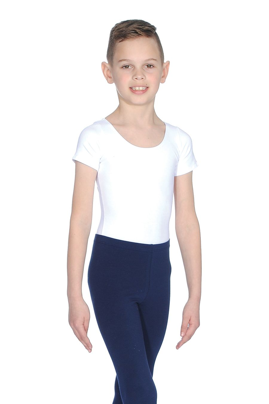Roch Valley Boys Adam Leotard in White Cotton Lycra