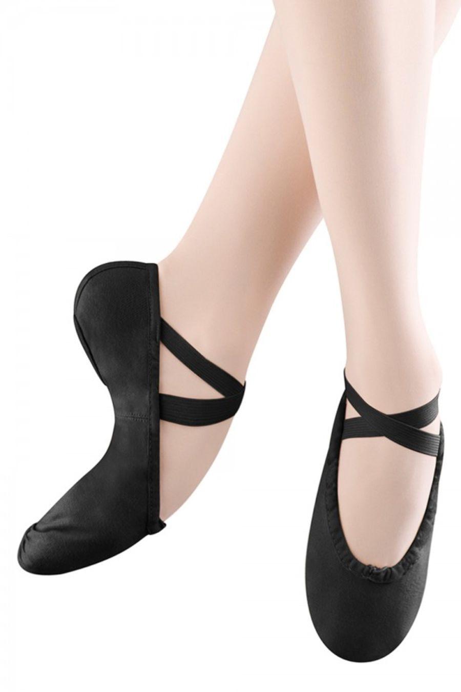 Bloch Pump SO277L Black Canvas Split sole Ballet/Dance shoe in Black