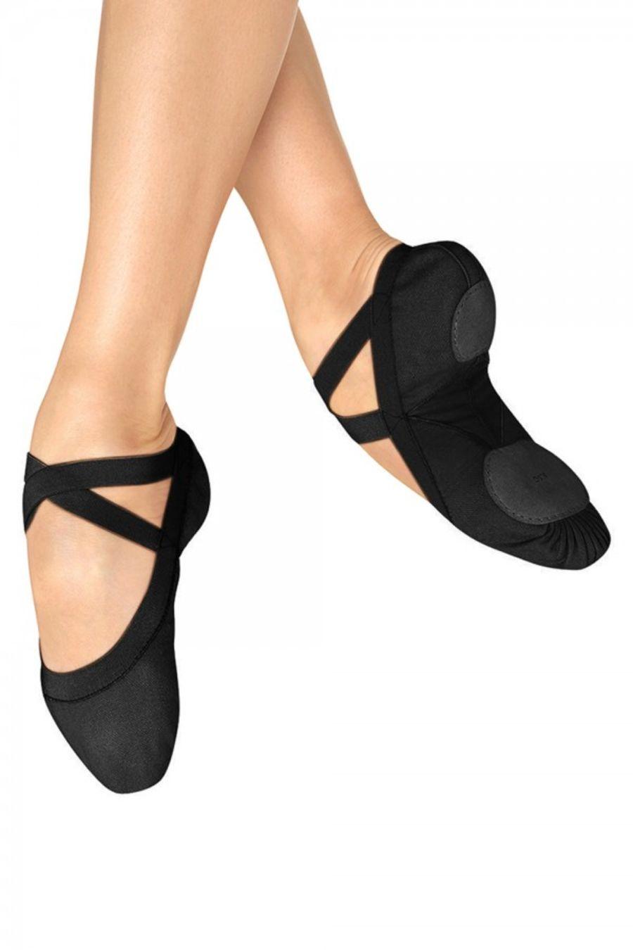 Bloch SO621L Pro Elastic Canvas Split Sole Ballet Shoe Black